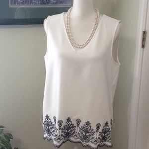 EUC ❤️ The Limited white sleeveless blouse, Large